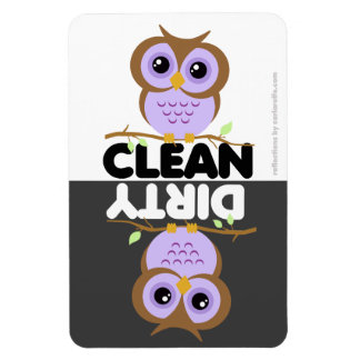 Cute Purple Owl Dishwasher Magnet