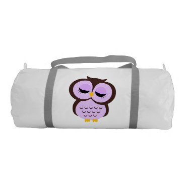 heartlocked Cute Purple Owl Gym Bag