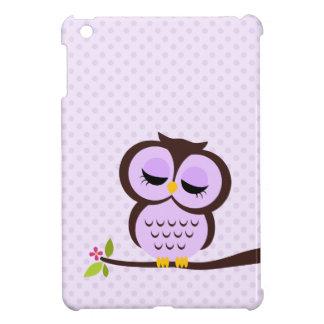 Cute Purple Owl iPad Mini Cases