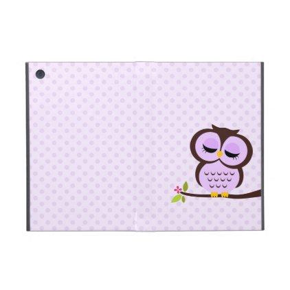 Cute Purple Owl iPad Mini Case