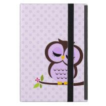Cute Purple Owl iPad Mini Covers