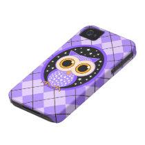 cute purple owl iPhone 4 Case-Mate case