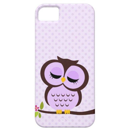 Cute Purple Owl iPhone SE/5/5s Case