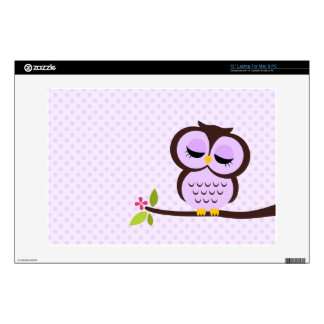 Cute Purple Owl Laptop Decals