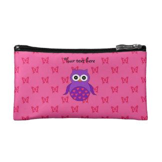Cute purple owl makeup bag