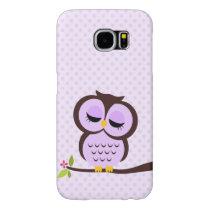 Cute Purple Owl Samsung Galaxy S6 Case