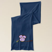 Cute Purple Owl Scarf