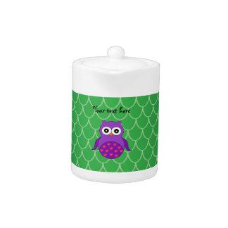 Cute purple owl teapot