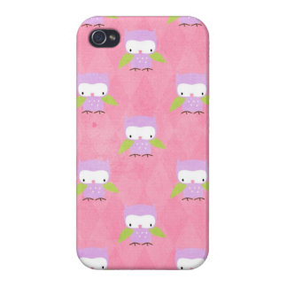Cute Purple Owls preppy Iphone Case Cover iPhone 4/4S Cases