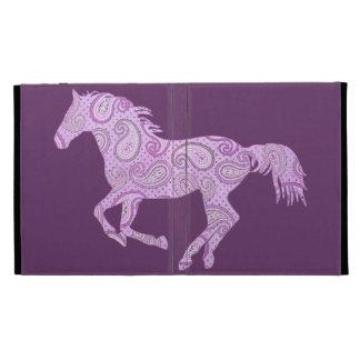 Cute Purple Paisley Horse iPad Folio Cover