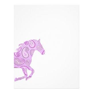 Cute Purple Paisley Horse Flyer Design