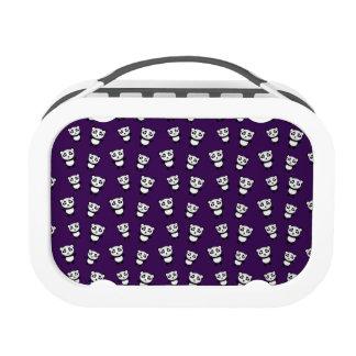 Cute purple panda pattern yubo lunchbox