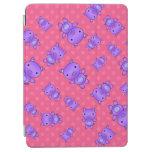 Cute purple pig pink polka dots iPad air cover