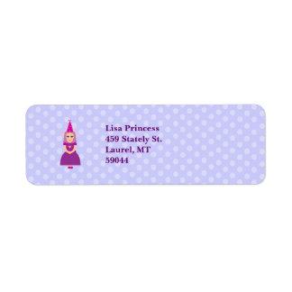 Cute Purple Princess Label