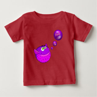 Cute purple  puffer fish baby T-Shirt
