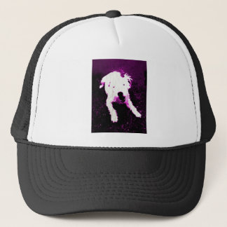 Cute Purple Puppy Trucker Hat