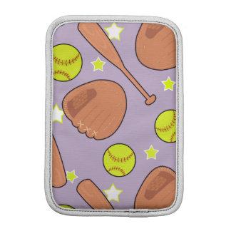 Cute Purple Softball Star Pattern iPad Mini Sleeve