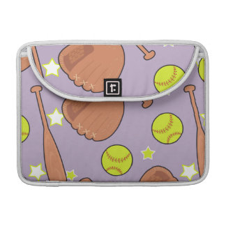 Cute Purple Softball Star Pattern Sleeve For MacBook Pro
