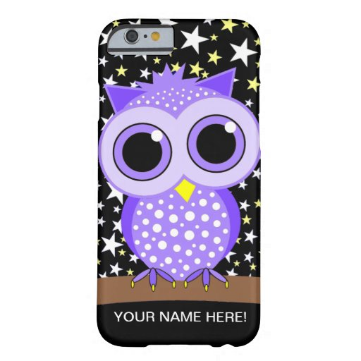 cute purple spotted owl iPhone 6 case