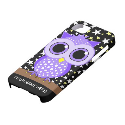cute purple spotted owl iPhone 5 cases
