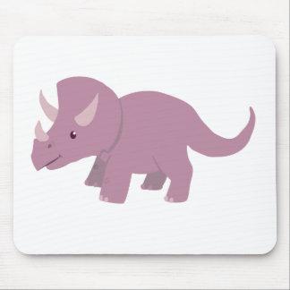 Cute Purple Triceratops (baby Torosaurus) Mouse Pad