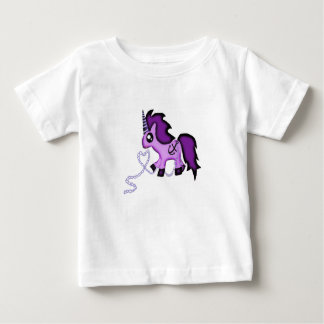 Cute purple unicorn with anchor tee shirts