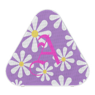 Cute Purple White Yellow Personalized Crazy Daisy Bluetooth Speaker
