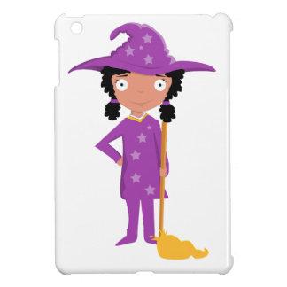 Cute purple witch iPad mini cases