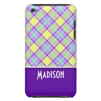 Cute Purple & Yellow Plaid iPod Touch Cover