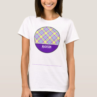 Cute Purple & Yellow Plaid T-Shirt