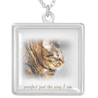 Cute Purrfect Tabby Cat Necklace