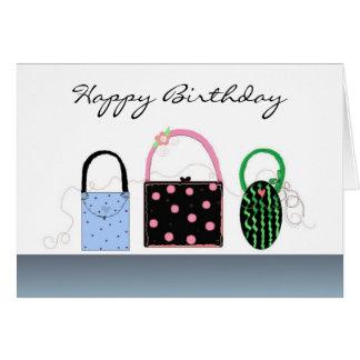 Cute Purses Birthday Card