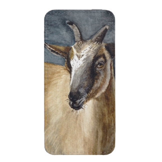 Cute Pygmy Goat Watercolor Artwork iPhone 5 Pouch