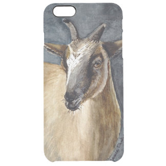 Cute Pygmy Goat Watercolor Artwork Uncommon Clearly™ Deflector iPhone 6 Plus Case