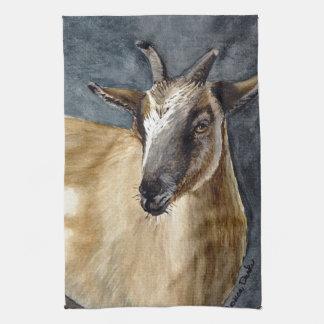 Cute Pygmy Goat Watercolor Artwork Kitchen Towel