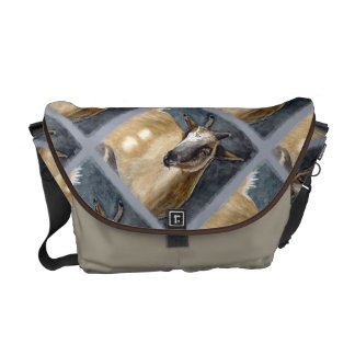 Cute Pygmy Goat Watercolor Artwork Courier Bags