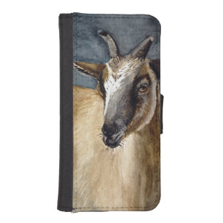 Cute Pygmy Goat Watercolor Artwork Phone Wallet Cases