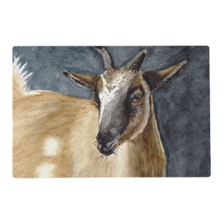 Cute Pygmy Goat Watercolor Artwork Placemat