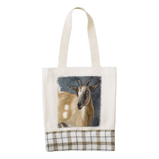 Cute Pygmy Goat Watercolor Artwork Zazzle HEART Tote Bag