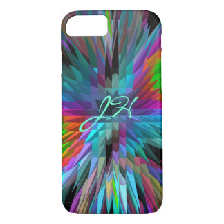 Cute Pyramids patterns & Monogram iPhone 8/7 Case