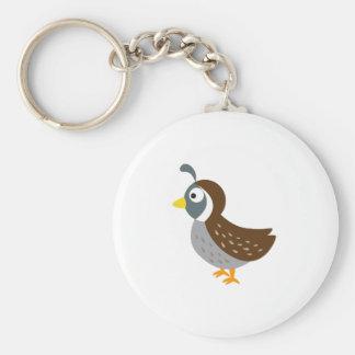 Cute Quail Basic Round Button Keychain