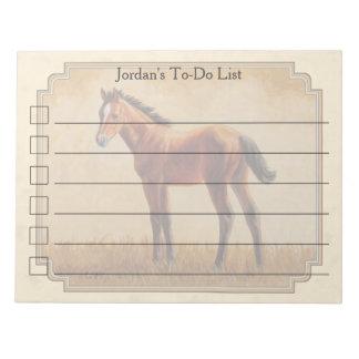 Cute Quarter Horse Foal Yellow Notepad