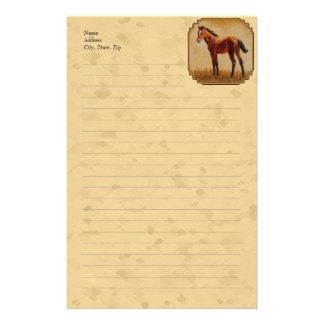 Cute Quarter Horse Foal Yellow Stationery