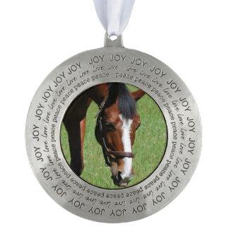 Cute Quarter Horse Round Ornament