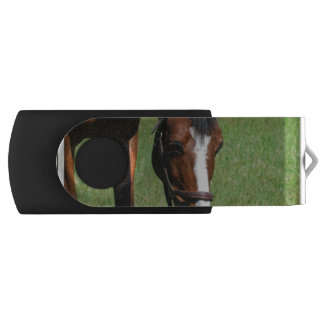 Cute Quarter Horse Swivel USB 2.0 Flash Drive