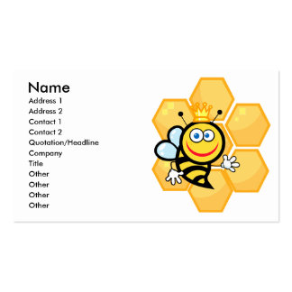 cute queen bee and beehive business cards
