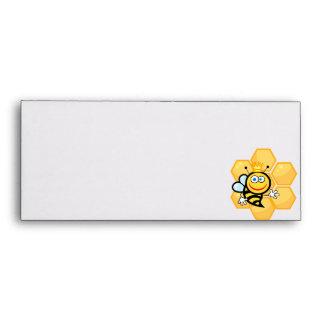 cute queen bee and beehive envelope