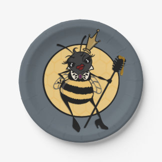 CUTE QUEEN BEE GRAPHIC PAPER PLATE