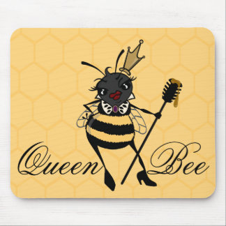 CUTE QUEEN BEE HORIZONTAL HONEYCOMB MOUSE PAD