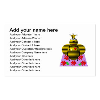 Cute queen bee on a quilt Double-Sided standard business cards (Pack of 100)